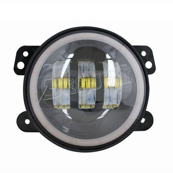 The Newest 6000K-6500K/White Led Fog Lights 1200LM Angel Eyes Fog Lamp Kit for Jeep Wrangler