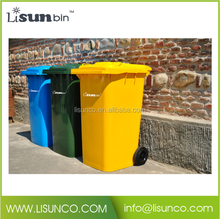 Plastic garbage can waste bin trash can