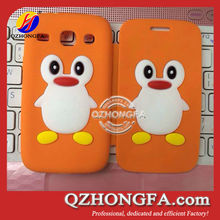 Silicon Penguin Cell Phone Case Flip cover case