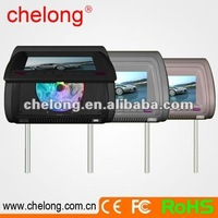 7 inch headrest vertical standing dvd player