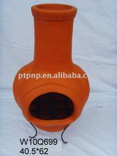 clay chimney with metal stand, pumpkin fire pot,W10Q699