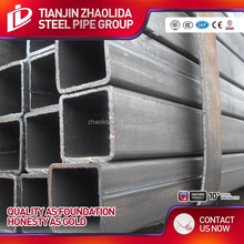 Factory direct selling square hollow iron bar/ hollow section black steel pipe with best price