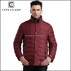 15B6604 New Model Man Casual Slim Sports Polyester Jackets Coats Hot Sale Wholesale Custom Men Red Down Jacket