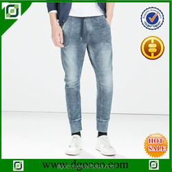 price of knitted loose fit denim jeans men jogger pants