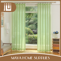 High quality luxury decorative green kitchen curtains and valances