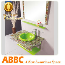 washbasin cabinet design with stainless steel Series AM-173