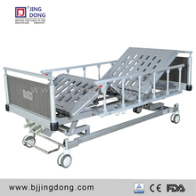 new high quality hospital manual bed with Collapsible side rails