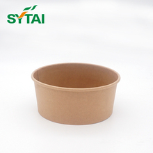 Single pe coated disposable food grade paper salad bowl