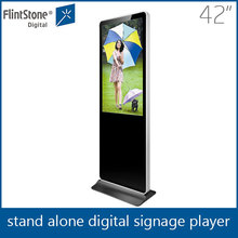 FlintStone 42 Inch stand Commercial Kiosk Media Player/retail store advertizing video demo player