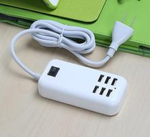 20W 5V 6A Multifunction Charger with LED Light 6 Ports USB Power Adapter