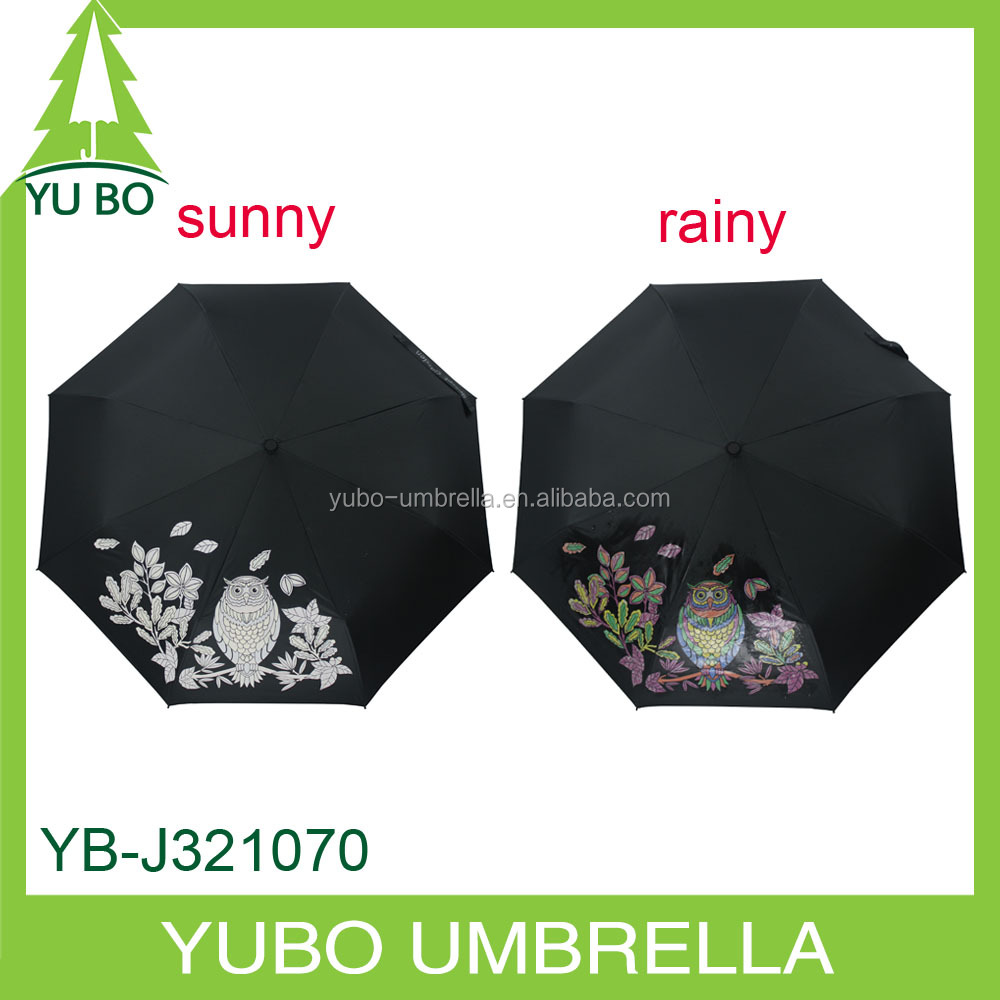 magic color changing three fold umbrella change color
