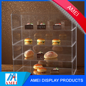 Custom Acrylic Bakery Pastry Display Case Cake Donuts Cupcakes Pastries Stand Cabinet