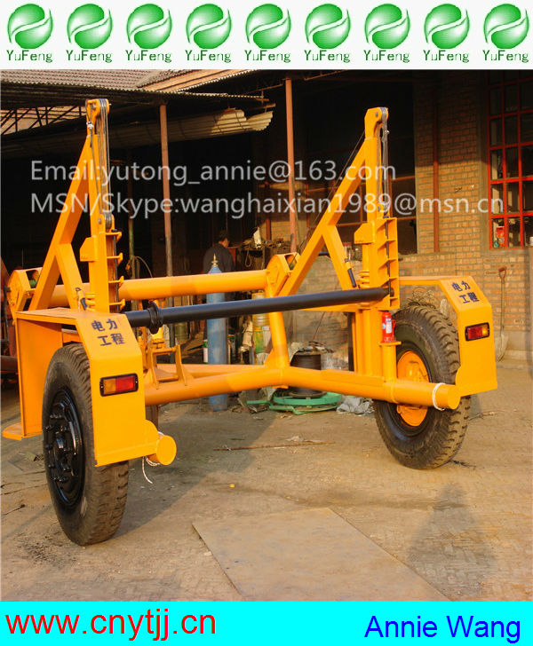 cable drum trailer ,CHINA