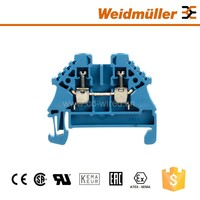 Screw clamp and plug in terminal blocks WDU 2.5N ZQV BL Weidmuller electrical wire terminal connectors of small profile