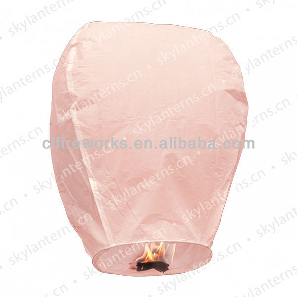 Biodegradable Pink Chinese Flying sky lantern