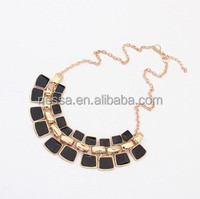 Black color metal choker necklace NSNK-21227