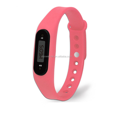 New Arrival Charm Sport Pedometer Silicone Digital Display Stop Watch