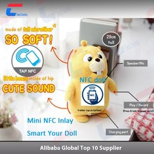 ISO14443A 13.56MHz NFC plush toy tag sticker with URL encoding for promotion
