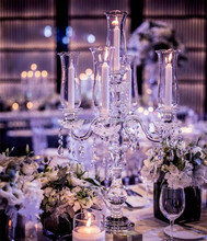 New Arrived 9 Arms Wholesale Crystal Candelabras On Sale Wedding Table Centerpeice Decor