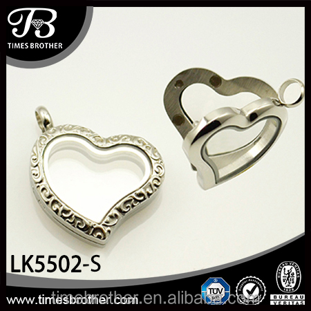 popular elegant glass locket stainless steel For Europe