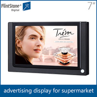 Flintstone 7 inch stand-alone lcd monitor pos display, digital signage indoor tv advertise, electronic lcd advertising product