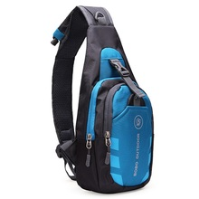 Unisex Nylon Chest Back Pack Outdoor Hiking Sport Crossbody Shoulder Bag Men Women Diagonal Package Rucksacks 2015 Hot