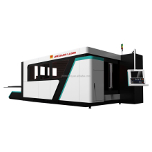 High precision laser cutting machine with motorized up down working table