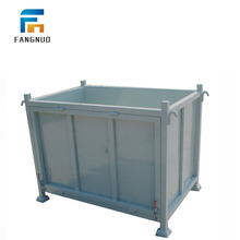 Factory warehouse storage use steel pallet box container Fangnuo