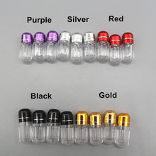 Purple, dark bule ,green caps clear ps plastic capsule bottle rhino 8 pills container bottle for machine pills