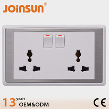 Double 2 gang universal 13A/220V wall socket outlet,waterproof outdoor socket