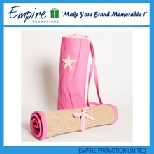 Pink lovely outdoor foldable portable fashion beach straw mat