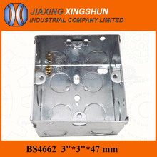 China supplier square uk standard 3x3 galvanized steel metal distribution box