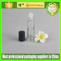 HOT SALE EMPTY COSMETIC glass PACKAGING NEW DESIGN PRODUCT ROLL ON BOTTLEWHOLESALE glass PP ROLL ON BOTTLE PERFUME