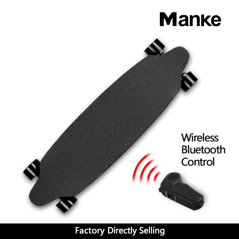 New arrival manke maple skateboard dual 600W boosted 6.6A four wheel electric skateboard with wireless remote control