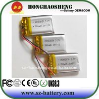 hot sale best price 3.7v 190mah 402030 micro rechargeable battery for bluetooth