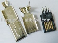 MINI USB 5PIN Male solder connector for USB cable