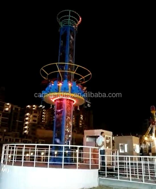 Direct Factory Price CARNEE Outdoor Park Thrilling Rides Free Fall Tower Jumping Circle for sale
