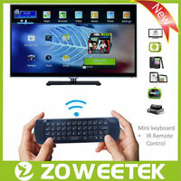2.4g wireless keyboard with fly mouse and changhong tv control remote