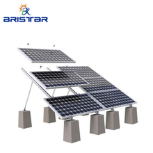 200KW PV Aluminium Solar Panel Concrete Flat Roof Adjustable Tilt Mounting Rack Systems
