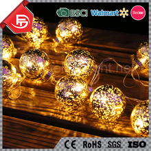 TZFEITIAN high quality party wedding Christmas decor snow ball micro led copper wire string lights