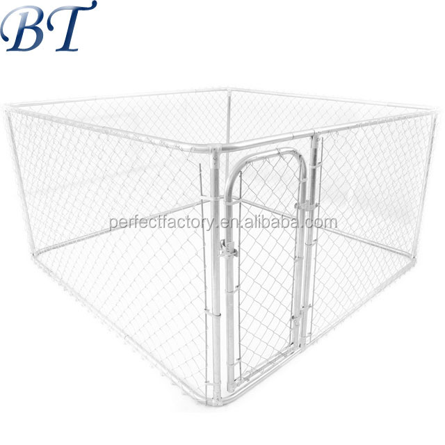 Rust Protected Galvanised Steel chain link Dog Cage Wholesale Cheap Dog run fence