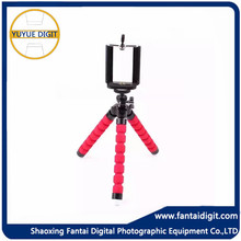 mini flexible portable mobile & camera tripod with sponge,Flexible spider camera tripod stand