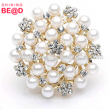 Bridal Pearl Rhinestone Brooch For Wedding