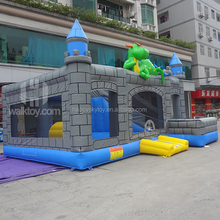 Amazing Hot 0.55mm PVC 4*4m inflatable jumping castle with slide, baby jumping bounce houses