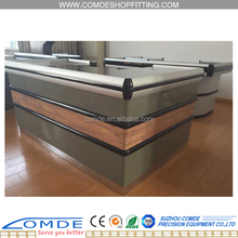supermarket checkout cash counter with conveyor belt for sale