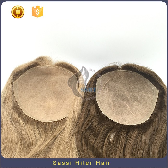 Natural Looking 8A Virgin Human Hair Womens Toupee