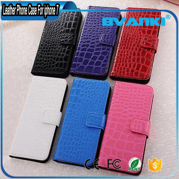 Crocodile High Quality PU Leather Detachable Slim Case,Magnetic Back Shell Cover for IPhone 7 Cases
