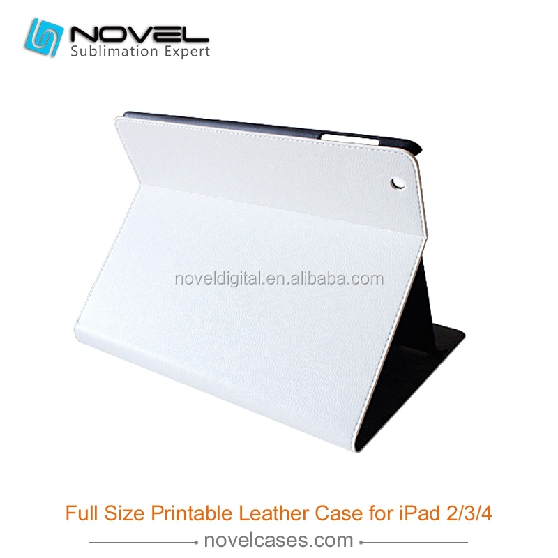 Deluxe vintage full size 3D sublimation pu leather cover for Ipad 2