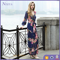 fashion long sleeve women clothing flora vintage dress