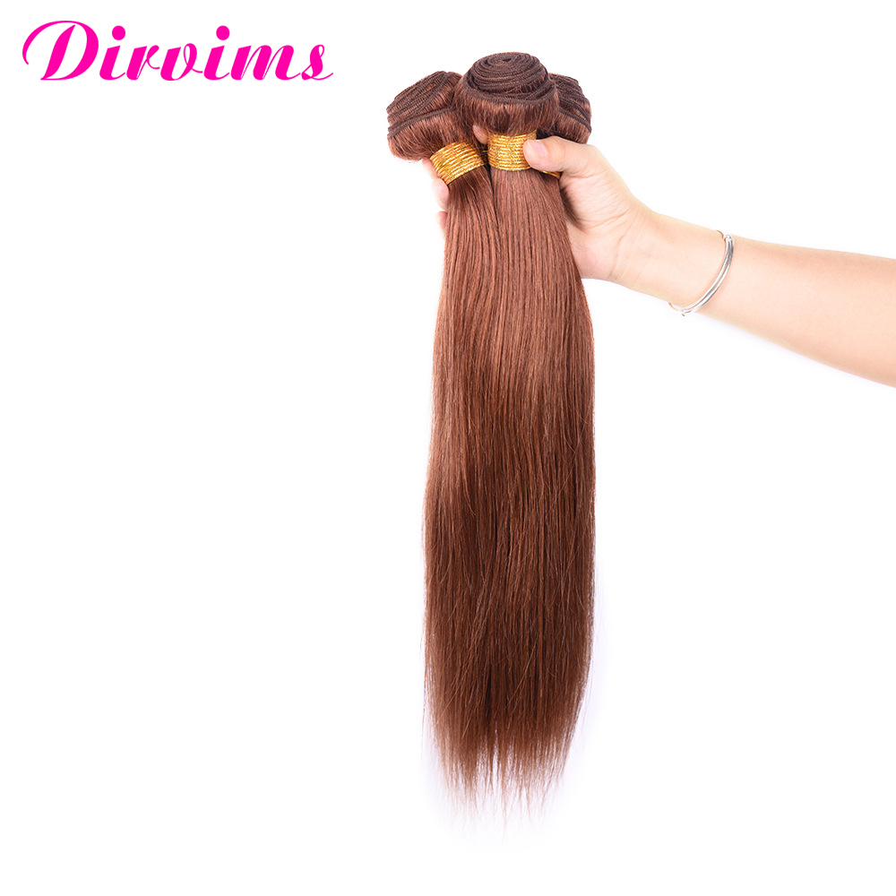 Accept Paypal 10 inch 12 inch 14 inch No Tanlge No Shed Dark Brown 4# Brazilian Colored Human Hair Weave